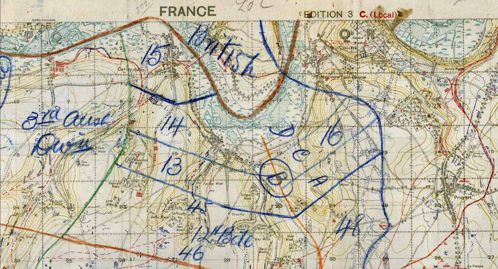 Thomas casey 28 home page morcourt to mericourt battle map gumiabroncs Images